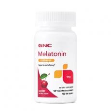 美国GNC melatonin褪黑素含片樱桃味