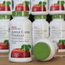 美国GNC苹果醋酸纤体片 高浓缩120粒 安全瘦身