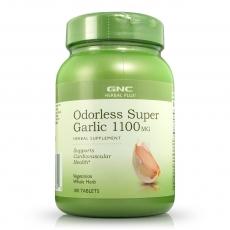 GNC无嗅超级肠溶大蒜精 1100mg 100片 降胆固醇 清血脂