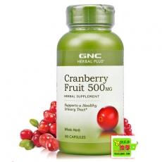 美国GNC蔓越莓草本萃取精华100粒(泌尿系统保护专家)