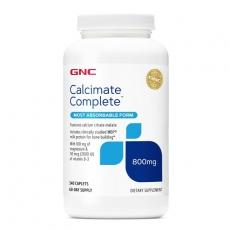 美国GNC顶级完美钙120片 柠檬酸钙镁D MBP胶原 超好吸收