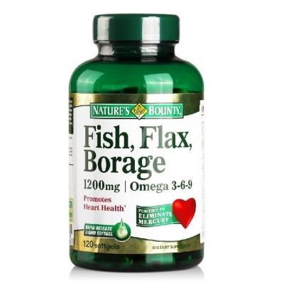 自然之宝混合必需脂肪酸软胶囊120粒 保护心脑血管 原装进口