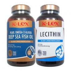 美国康力士三文鱼油维生素E 200粒+大豆卵磷脂200粒