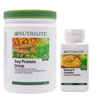 美国产安利蛋白粉+维生素B 抗疲劳套餐
