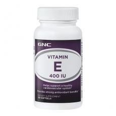 美国GNC天然维生素E 400iu100粒VE