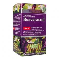 美国GNC红酒精华胶囊/ ResVitale Resveratrol 白藜芦醇 500MG 60