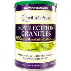 Puritans Pride普丽普莱天然大豆卵磷脂颗粒850g