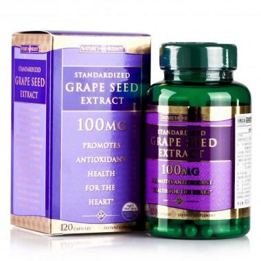 美国原装进口双倍浓度高纯葡萄籽精华 120粒 自然之宝红葡萄籽