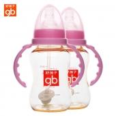 好孩子婴儿奶瓶 宝宝奶瓶仿真乳感标准口径120ml2件装A10468